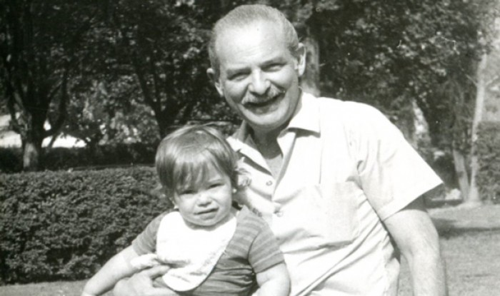 Author with paternal grandfather Mario, photo courtesy Andres Neuman